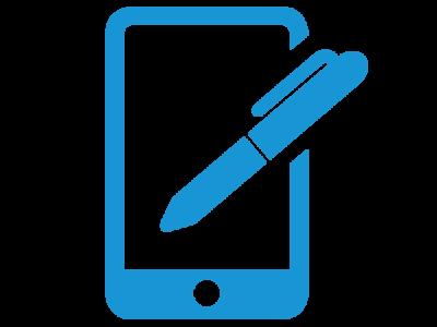 Smartphone Report-App - advasco   icon blue