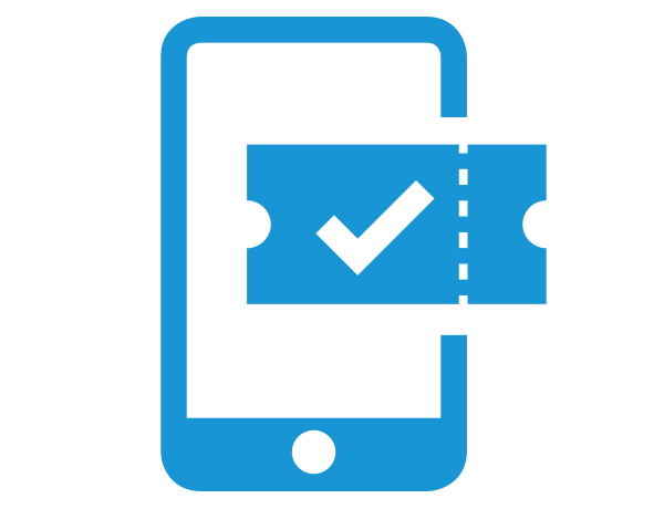 Smartphone Ticket-App - advasco | icon blue